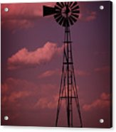 Purple Wind Acrylic Print