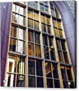 Chicago Golden Purple Window Panes Acrylic Print