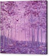 Purple Woods Acrylic Print