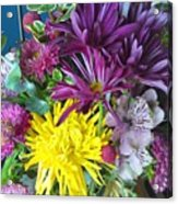 Purple Yellow Flower Mix Acrylic Print
