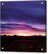 Puruple Sunset Acrylic Print