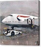 Push Back 747 Style London Acrylic Print