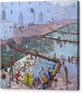 Pushkar Ghats Rajasthan Acrylic Print