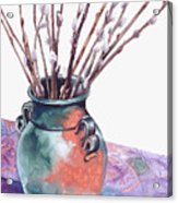 Pussy Willows Bouquet Acrylic Print