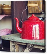 Put The Kettle On Acrylic Print