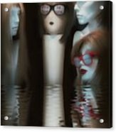 Putting Our Heads Together Acrylic Print