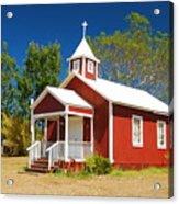 Pu'uanahulu Baptist Church - Pu'uanahulu Acrylic Print