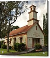 Pu'ula Congregational Church - Nanawale Acrylic Print