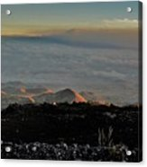 Pu'us Aglow In Late Afternoon Light Acrylic Print
