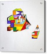 Puzzled Acrylic Print