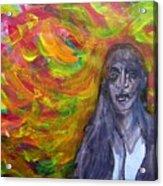 Puzzlement And Joy When Colors Enter Acrylic Print