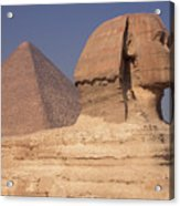 Pyramid And Sphinx Acrylic Print