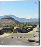 Pyramid Of The Sun And Avenue Of The Dead Acrylic Print
