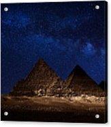 Pyramids Milky Way Acrylic Print