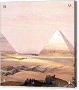 Pyramids Of Geezeh - Egypt Acrylic Print