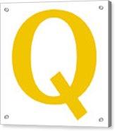 Q In Mustard Typewriter Style Acrylic Print