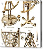 Quadrants And Sextant, 1790 Acrylic Print