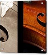 Quadriptych Of Musical Curves Acrylic Print