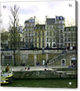 Quai De Seine Acrylic Print