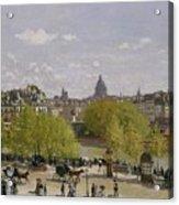 Quai Du Louvre In Paris Acrylic Print