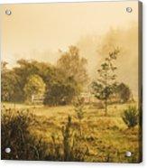 Quaint Countryside Scene Of Glen Huon Acrylic Print