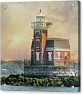 Quaint Stepping Stones Lighthouse Acrylic Print