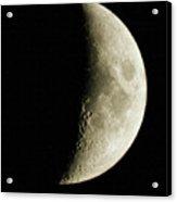 Quarter Moon Photo By W G  Smith Acrylic Print