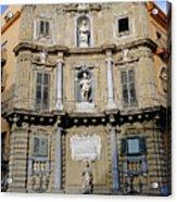 Quattro Canti In Palermo Sicily Acrylic Print
