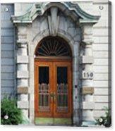 Quebec City Doors 1 Acrylic Print