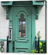 Quebec City Doors 3 Acrylic Print
