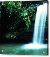 Quebrada Juan Diego Waterfall Mirror Image Acrylic Print