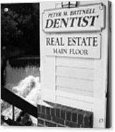 Quechee, Vermont - Falls Storefront 2006 Bw Acrylic Print