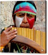 Quechuan Pan Flute Player Acrylic Print