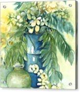 Queen Emma In Blue Vase Acrylic Print