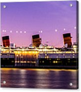 Queen Mary At Dusk_pano Acrylic Print