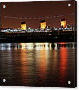 Queen Mary Panorama  Acrylic Print
