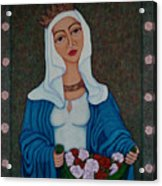 Queen St Isabel - The Miracle Of The Roses Acrylic Print