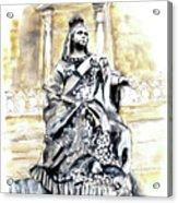 Queen Victoria In Valletta Acrylic Print