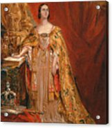 Queen Victoria Taking The Coronation Oath 28 June 1838 Acrylic Print