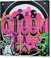 Queens Cat Mural Acrylic Print