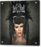 Queens Headress Acrylic Print