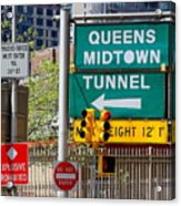 Queens Midtown Tunnel Acrylic Print