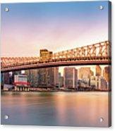Queensboro Bridge At Sunset Acrylic Print