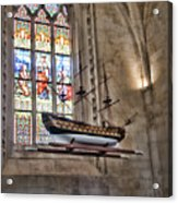 Quelven Church, Brittany, France, Ship Acrylic Print