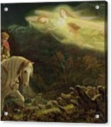 Quest For The Holy Grail Acrylic Print by Arthur Hughes