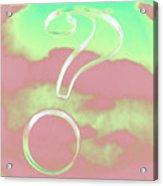 Question Mark Acrylic Print
