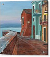 Quiet Sicilian Town Acrylic Print