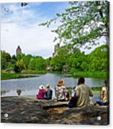 Quiet Moment In Central Park Acrylic Print