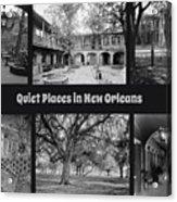Quiet New Orleans Acrylic Print
