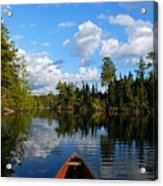 Quiet Paddle Acrylic Print by Larry Ricker